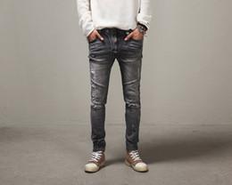 BIKER JEANS Brand 2016 Street jeans Personality men jeans Slim hole Pencil pants jeans men distressed jeans ripped denim zipper fly jeans