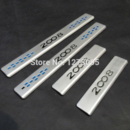 For 2015 Peugeot 2008 High quality Stainless Steel Scuff Plate Door Sill car Styling Accessories 4pcs set