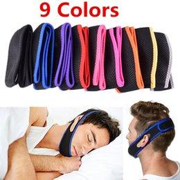 Wholesale 500pcs Colors Anti Snoring Chin Strap Neoprene Stop Snoring Chin Support Belt Anti Apnea Jaw Solution Sleep Device