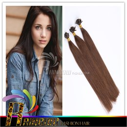 8A Grade Nail U Tip Extensions de cheveux 18