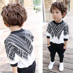 Wholesale Children s pajamas Girls Cotton spring and autumn season long sleeved girls baby home service boys and girls winter suit