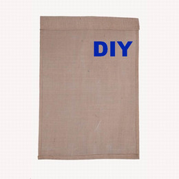 Wholesale DIY Jute Burlap Garden Flags W H Inch H Liene Yard Hanging Flag House Decoration Printed Pattern Portable Banner Ads