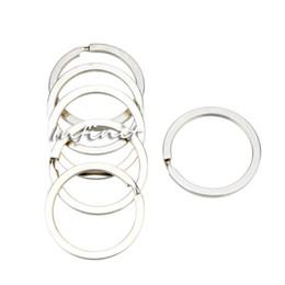 Wholesale In business Set mm Silver Tone Key Chains Metal Flat Split Rings Keyrings Manganese steel Keychains Keys Holder