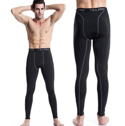 New high elastic quick dry trouser men tights compression running pants sports athletic leggings fitness gym training pants free shipping