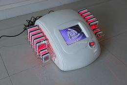 Descuento máquinas de láser usados en venta belleza fuentes del salón lipoláser diodo delgado superior de la venta 14 pastillas de láser clínica de uso de la máquina para adelgazar