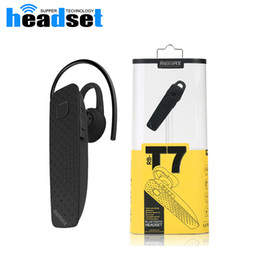 REMAX T7 Business Remote Self-timer Wireless Bluetooth 4.1 Headphone Earphone With MIC Noise Cancelling Charger Cable