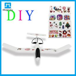 Regalos de Navidad de control de la aplicación del plano de bricolaje ligero Avión Planeador PPE material para el envío de los niños de DHL desde planeadores de bricolaje fabricantes