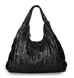 Sheepskin splicing Women's Shoulder bag large Genuine leather Hobos bag black Women Handbags Totes messenger bags Free shipping