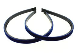 """10mm (3 8"""") Velvet Lined Headband with Teeth Hair Accessories 30pcs"""