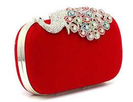 Wholesale 2016 hot Stunning new color peacock fashion boutique evening bag skull bag clutch bag exclusive distribution