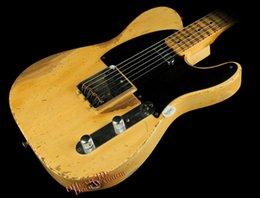 Wholesale 10S Custom Shop Masterbuilt John Cruz Ultimate Heavy Relic Butterscotch Blonde Electric Guitar
