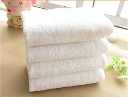 Wholesale SF Express CM Hotal Towels White g cotton Bath Towel Bulk Beach Sport Towel Hotel cheap towels toalha special purpose for Hotel