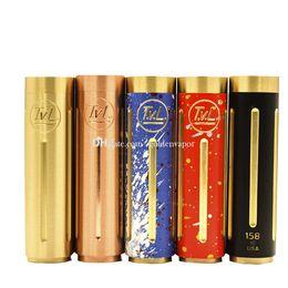 Compra Online Cobre vaporizador mod-TVL Colt 45 mecánico de cobre de cobre de cobre amarillo 18650 kit de vaporizador de la MOD usando solo un 18650 batería 510 hilo DHL envío gratis