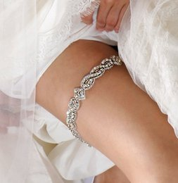 Wholesale White Bridal Garter Large Wedding Garter with Crystals by AlisaBrides Bling Luxury Luxurious High Quality