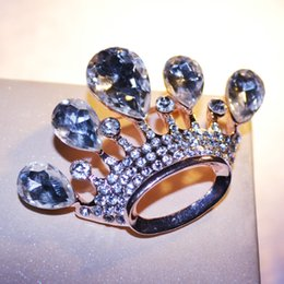 Crystal crown shape brooches new design pin elegant fashion concise classic retro diamond lovely brooches GLN688