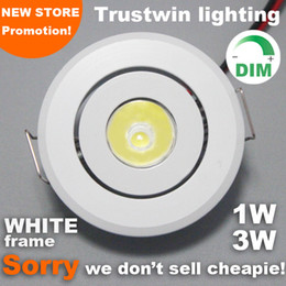 round mini led spotlight 1W 3W 110V 220V recessed ceiling indoor outdoor mini spot led dimmable