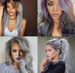2016 cachet à chaud 8-30 pouces Cheveux indiens Trame Ombre Grey corps Ongles cheveux à deux tonalité cheveux couleur Trame extensions de cheveux à partir de 12 pouces cheveux humains deux tons fabricateur