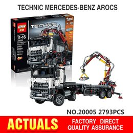 Wholesale In stock NEW LEPIN technic series Arocs Model Building Block Bricks Compatible with LEGOe Boys Toy Gift