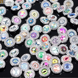 Mix Many styles 18mm Noosa Chunks Metal Snap Button Charm Rhinestone Styles Snap Button Ginger Snaps Jewelry kz0005b