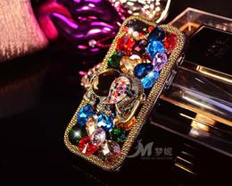 Acheter en ligne Mélanger le cas de la mode-Mode mixte strass de luxe de mode bling pour iphone 5 5s 6 6s 6 plus Elephant 3D diamant crystal phones Cases