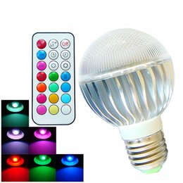 Wholesale 8W Color Changeable Remote Control RGB LED Light Bulb Timing Off E27 GU10 AC100 V for Home Bar KTV Party Christmas Lights
