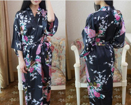 Wholesale Free Ship New Chinese Women s Silk Rayon Robe Kimono Bath Gown Nightgown Hot Selling