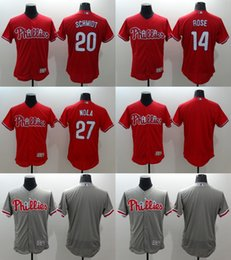 Wholesale 2016 Newest Elite Men s Philadelphia Phillies Rose Schmidt Aaron Nola Flexbase Authentic Collection Jerseys