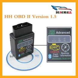 Wholesale Super HH OBD Mini Version ELM327 HH OBD Advanced MINI ELM V1 Bluetooth OBD2 Car CAN Wireless Adapter Scanner Tool