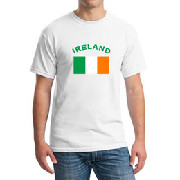 2016 Summer European Cup IRELAND Football Fans Cheer T-Shirts Round Neck 100% Cotton Football Gym National Flag T shirts For Men
