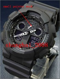 Wholesale 2016 New Men watch small pointer work Led watch Display sports Unisex watch ga100 digital watch