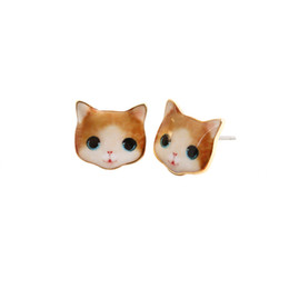 2016 New Fashion New express it in Black Cat Sport Stud Earring For participants in Lady Gift, girlfriend, best Gift
