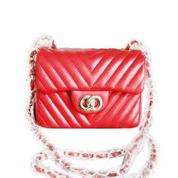 Chain bag women s handbag à vendre-V Motif matelassé chaîne Mini sac en cuir d'agneau Flap épaule du concepteur Sac à main femmes diamant Lattice Petit 1.115 CC136