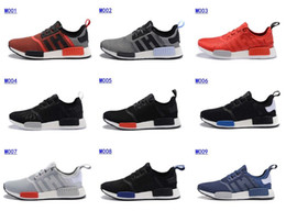 Wholesale 2016 Foot Locker Originals NMD Runner R1 Mesh Primeknit Boost Monochrome sport shoes Men s Running Sneakers