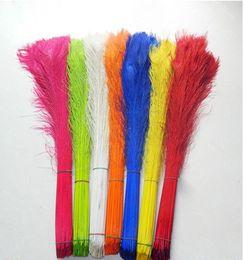 wholesale 100 PCS dyeing peacock feathers 70-80 cm   28 - 32 inches Wedding centerpiece decor