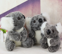 Descuento muñecas de la muchacha Cute Koala peluche de juguete de aventura Bear muñeca de cumpleaños de regalo de Navidad relleno de animales suaves 3 tamaño Australian Koala Dolls for Boys Girls