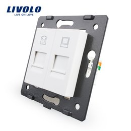 Wholesale Manufacture Livolo Wall Socket Accessory The Base of Telephone and Computer Socket Outlet VL C7 TC
