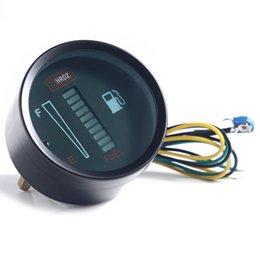 Wholesale mm Fuel Meter LED Digital DC12V Fuel Gauge Fuel Meter For Car Motorcycle Instruments