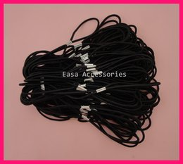 Wholesale 50PCS mm Black Elastic Hair Bands as Connecter of Headbands with silver metal button BARGAIN for BULK