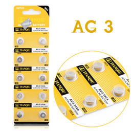 Wholesale AG3 SR41W SR41 L736 Alkaline Cell Button Batteries For Watch Toys EE6204