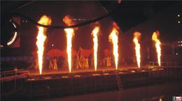 Wholesale 2PCs W Spray Fire Machine Dmx Flame Projectors Stage Equipment DMX Fire Machine Stage Flame machine Fire Machine