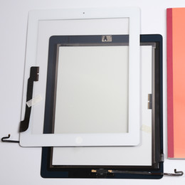 Wholesale For iPad 4 Good Replacement Touch Screen Digitizer Panel Replace With White & Black Repair Part Free Shipping
