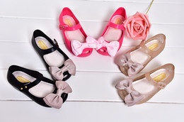 Mini Melissa Baby Girls Jelly Sandals bébé Bow mignon Chaussures de plage Sandales Slipper à partir de pantoufles chaussures mignonnes fournisseurs