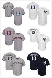 Wholesale Mens New York Yankees Alex Rodriguez Gray White Navy Blue Official Cool Base NY Majestic MLB Baseball Jerseys Cheap