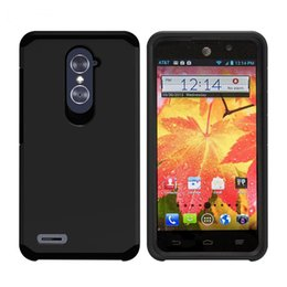 Wholesale For ZTE Zmax pro Z981 MetroPCS alcatel fierce Silicone Armor Phone Case Armor Hybrid Hard Plastic TPU Case Opp Package