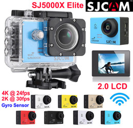 Wholesale Original SJCAM SJ5000X Elite K fps K fps Gyro sensor Sports Camera WiFi Waterproof Action Camera Diving m HD DV LCD NTK96660