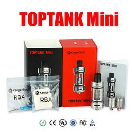 Authentic Kanger Toptank Mini Atomizer kit Black White SS Red Color Kanger Sub Ohm Tank for for subox KBOX topbox Mini vapor mods
