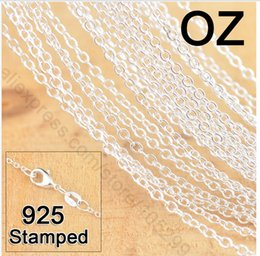 """Wholesale-Fast 50Pcs 18"""" 925 Sterling Silver Jewelry Link Rolo Chains Necklace With Lobster Clasps Factory Price Free Shipping"""