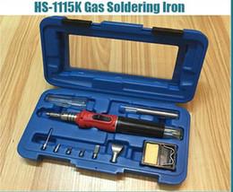 La alta calidad del soldador Auto-ignición 10-en-1 soldador del gas sin cuerda Soplete Tool Kit HS-1115K desde de gas de soldadura de hierro fabricantes