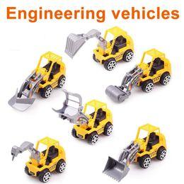 Al por mayor de la ingeniería en Línea-juguetes de los niños-Zorn vehículos de ingeniería excavadora / bulldozer / grab madera / rodillo / 6, tipo Mini de plástico juguetes modelo de coche al por mayor de 2016