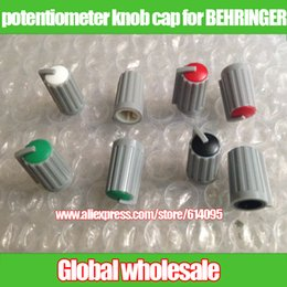 Wholesale potentiometer knob cap for BEHRINGER mixer diameter mm mm red white orange black green potentiometer adjustment cap